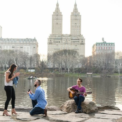 Proposal With Musician + Photography