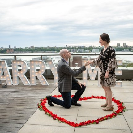 Gigantic Marry Me Sign Proposal