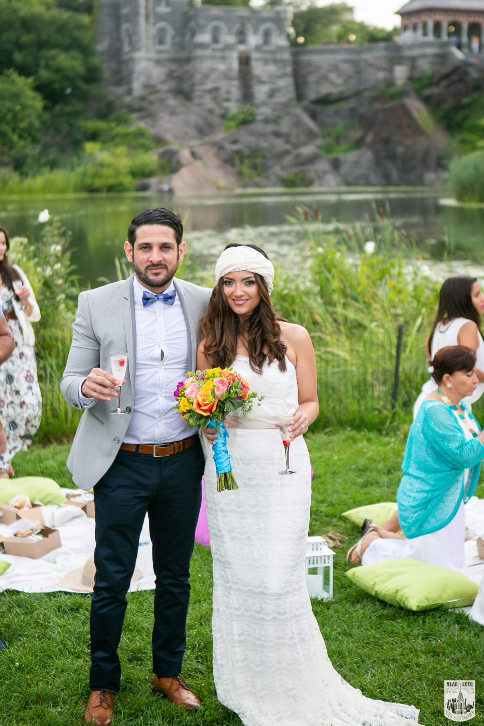 Wedding in Central Park at the Belvedere Castle