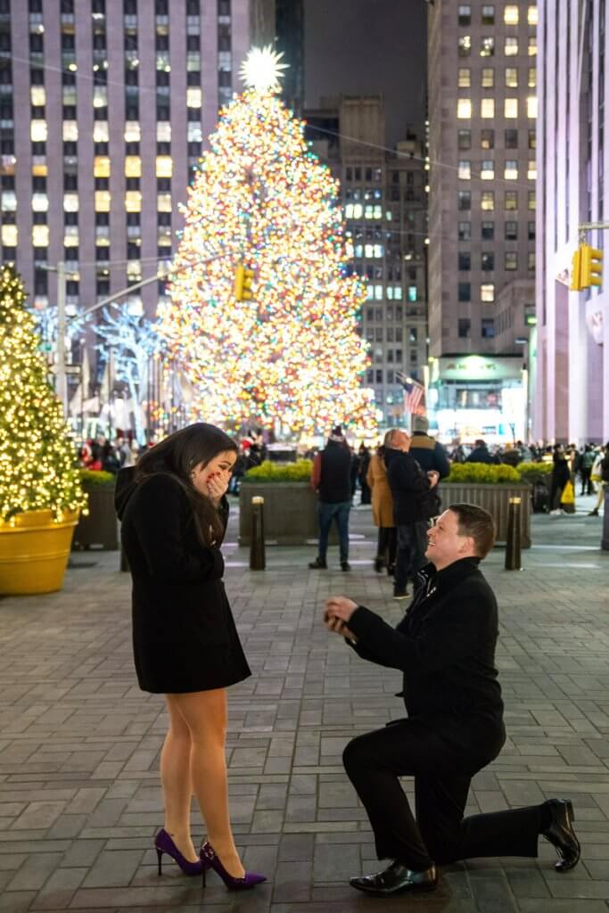 Christmas tree proposal at rockefeller center