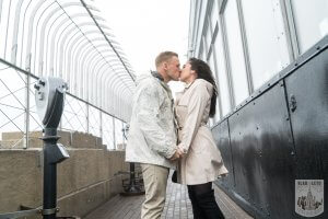 Proposing at the Empire State Building