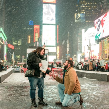 A Times Square Marriage Proposal NYC